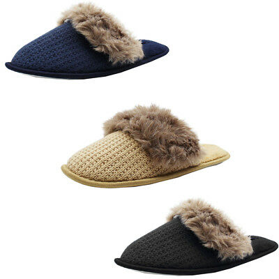 c4c4c99c4 Womens Cable Knit Plush Slippers House Shoes Fuzzy Soft Warm Indoor Slides.