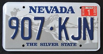 "NEVADA "" SILVER STATE - RAMHORN "" 2001 Vintage Classic NV Graphic License Plate"