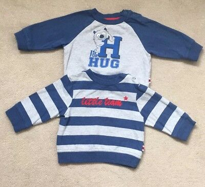 Mothercare Baby Boys Jumpers /  Sweatshirts X2 -3-6 months - Very Good Condition