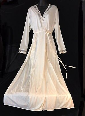 GILEAD Goddess GOWN ROBE Ivory Lace Nylon Size Large Vintage USA CMATCHGOWN