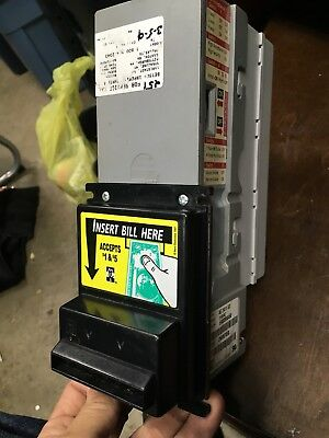MARS BILL ACCEPTOR AE 2411 2400 115VAC Non Flashport $1,$2 AND 5'S MEI UPstacker