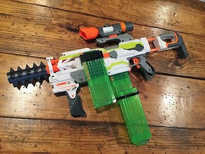 Nerf 3D Printed Spike Barrel Attachment ONLY (Silver, Green, Gold, Or Black)