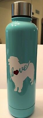 Aussie Rescue - 17 oz double walled stainless steel water bottle - Bleached Teal