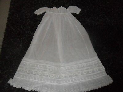 Childrens vintage antique Christening gown - white  over 100 years old !! WOW !!