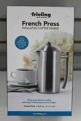 Frieling 36 oz. Insulated Stainless Steel French Press in Brushed Finish!