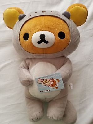 New Rilakkuma Grey Sea Otter Costume Plush SAN-X Japanese Design, 16""