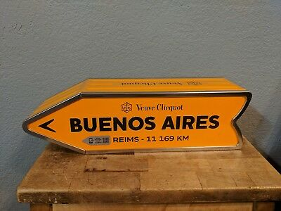 Veuve Clicquot 750ml Champagne Metal Journey Sign Box Buenos Aires from Reims