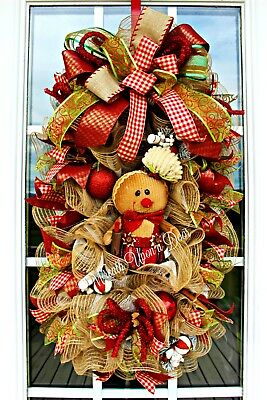 Christmas Gingerbread Swag / Gingerbread Whimsical Bright Colors Swag