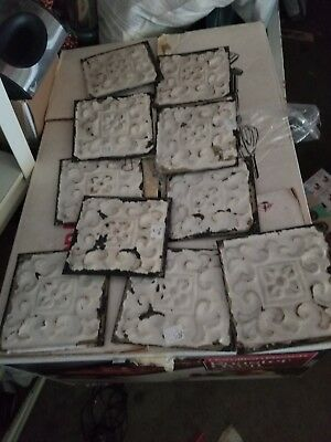 "Antique Tin Ceiling Tiles 12- 6"" x 6"" chippy white"