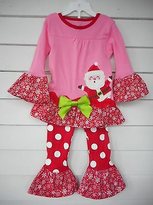 8934bb378c0a CARTER S TODDLER GIRLS Christmas Pajama Outfit with Handmade Ruffles ...