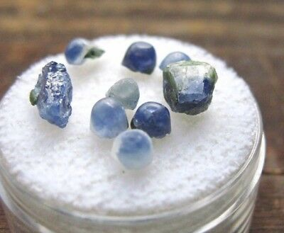 Rough Benitoite Crystals lot of 9 Stones for Faceting or Cabochons 5.18 ctw NR