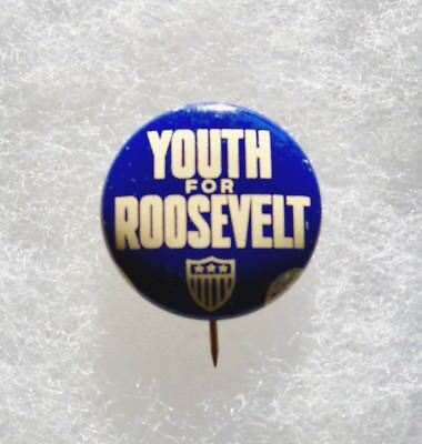 Youth for Roosevelt FDR Presidential Campaign Pin