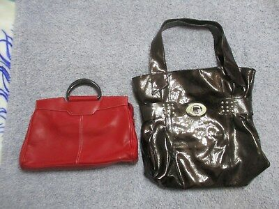 2 x LADIES HANDBAGS, SEE PHOTOS AND DESCRIPTION