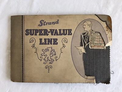 Antique Vintage Wool Fabric Sample Swatch Book Strand Co Men's Suits Coats Pants