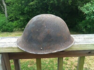 WW2 British Turtle Shell  Army Helmet Original