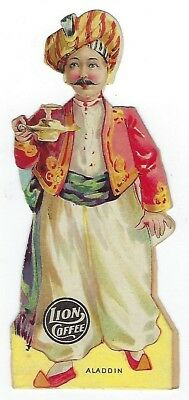 Lion Coffee Children's Dolls With Stories - Aladdin - late 1800's trade card