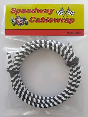 Black & White Speedway Cable Wrap Coil Cover Motorcycle /  Bicycles / Scooters