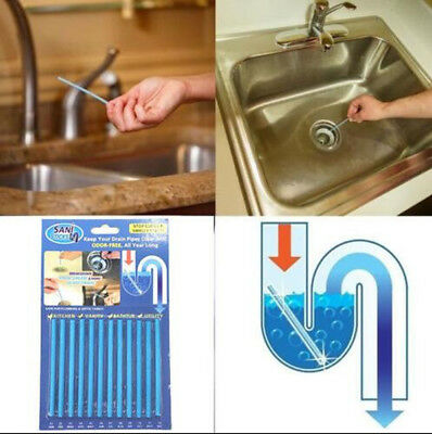 12x Sani Sticks Soap Keep Drain Pipes Clean Pack Bar Odor Free Cleaning Products