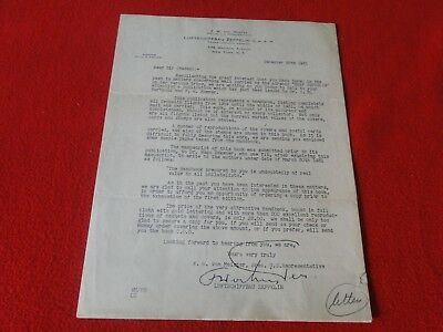 Vintage Rare Original Zeppelin Contract Governing General and Baggage Conditions