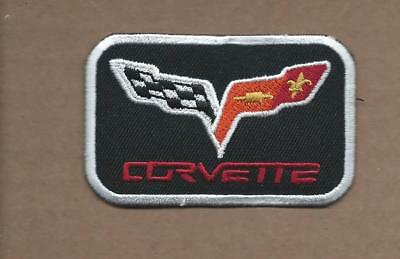 New 1 7/8 X 3 Inch Chevrolet Corvette Iron On Patch Free Shipping
