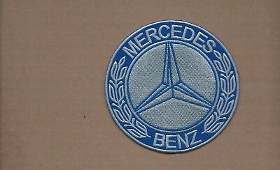 New 4 Inch Blue Mercedes Benz Iron On Patch Free Shipping