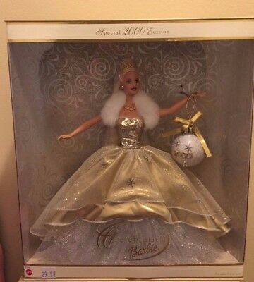 2000 Barbie Doll Blonde Special Edition Holiday Celebration Collector series New