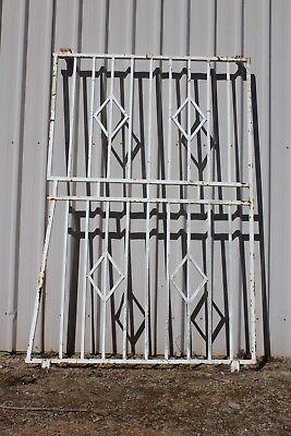 Large Vintage Steel Security Door Screen Retro Garden Frame Trellis Wrought Iron