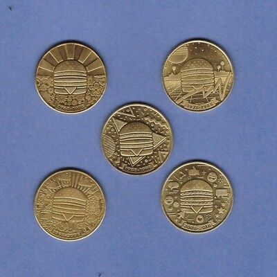 *Full 5 Coin Set Unsealed* - McDonalds Big Mac 50th Golden Anniversary Coins