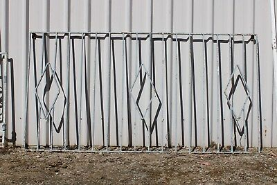 Pair Large Wrought Iron Panel Security 1950's Garden Frame Trellis