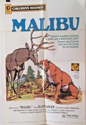Malibu 1972 1 SHEET ORIGINAL MOVIE POSTER 27 x 41 Folded (C)