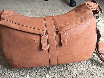 Camera Bag Brown Leather Colour. Cross Body Style
