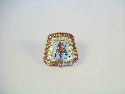 United Brotherhood of Carpenters & Joiners 50 Year Service Pin Union USA