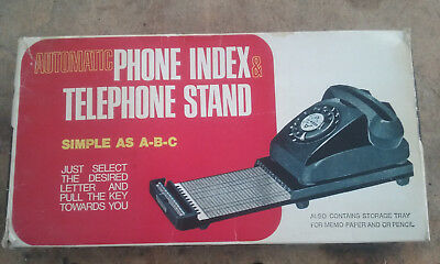Vintage Retro Phone Index & Telephone Stand NEW IN BOX.
