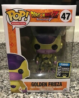 FUNKO POP! DragonBall Z GOLDEN FRIEZA #47 SDCC 2015 with soft protector NEW