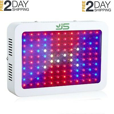 JS 1200W LED Grow Light Full Spectrum,Dual Chips Plant Lamp with UV&IR Red Blue