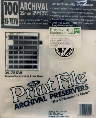 100 35mm Archival Negative Preservers