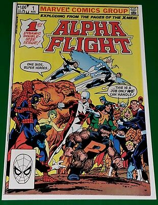 John Byrne Signed! Alpha Flight #1 High Grade Condition Vf / Nm Marvel 1983