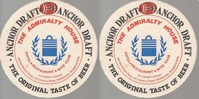 Anchor Draft - The Admiralty House Round Coaster - Beer Mat
