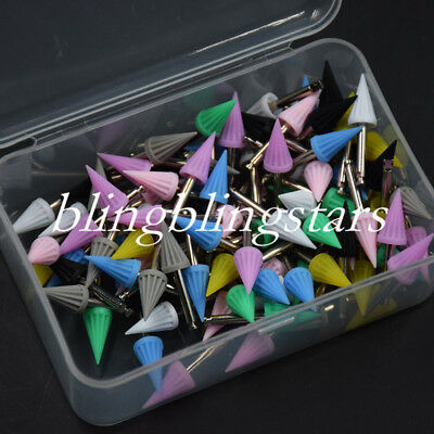 100 Pcs Dental Polishing Cup Prophylaxis Silicone Rubber Polisher Teeth Tapered