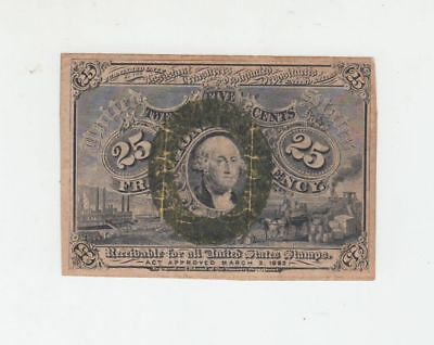 (Fr-1284)  1863 25 Cents Fractional Currency Note
