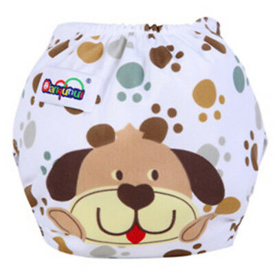 Baby Toddler Cartoon Printed Cloth Diapers Reusable Nappy Washable Snap Nappy