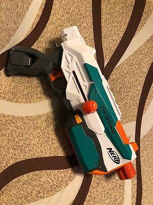 Nerf Modulus Tri-Strike Blaster W/6 Dart Mag! Tested & Working!