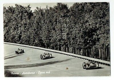 Motor Racing Postcard Mercedes At Monza Real Photo Vintage Used 1961