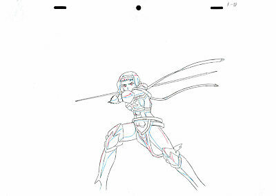 SALE! Anime Douga Not Cel: Queen's Blade #439 (Set of 1 Production Sketch)