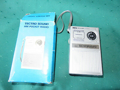 Tectro Sound Am Pocket Radio In Original Box