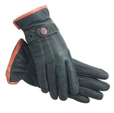 (7, Brown) - SSG Work 'N Horse Lined Riding Gloves. Shipping is Free