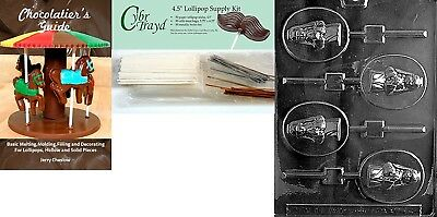 (+50 Stx/Bags/Bk) - Cybrtrayd Girl Communion Lolly Chocolate Candy Mould with