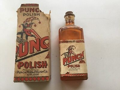 Antique/vintage Punch Polish Bottle Box Adelaide.