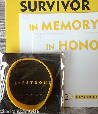 LIVESTRONG Day Tribute Cards + LIVESTRONG Adult Band