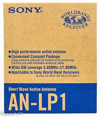 Sony AN-LP1 High Performance Active Antenna For Most Sony Radios 3.85 -21.95 MHz